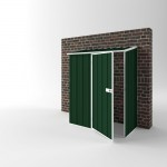 EasyShed Off The Wall Garden Shed Small Garden Sheds 1.50m x 0.75m x 1.95m EWS1508