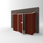 EasyShed Colour Off The Wall Garden Shed Medium Garden Sheds 2.25m x 0.75m x 1.95m EWS2308