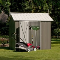 EasyShed Zinc Gable Garden Shed Medium Garden Sheds Pinnacle 2.25m x 1.50m x 2.27m EPS2315