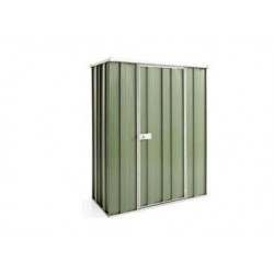 Spanbilt Yardsaver Slimline F42-S Colour 1.41m x 0.72m x 1.80m Flat Roof Garden Shed Small Garden Sheds