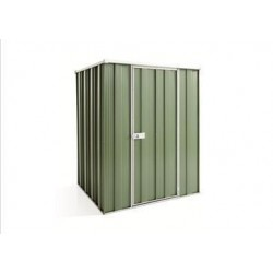 Spanbilt Yardsaver F44-S Spacemaker Colour 1.41m x 1.41m x 1.80m Flat Roof Garden Shed Medium Garden Sheds