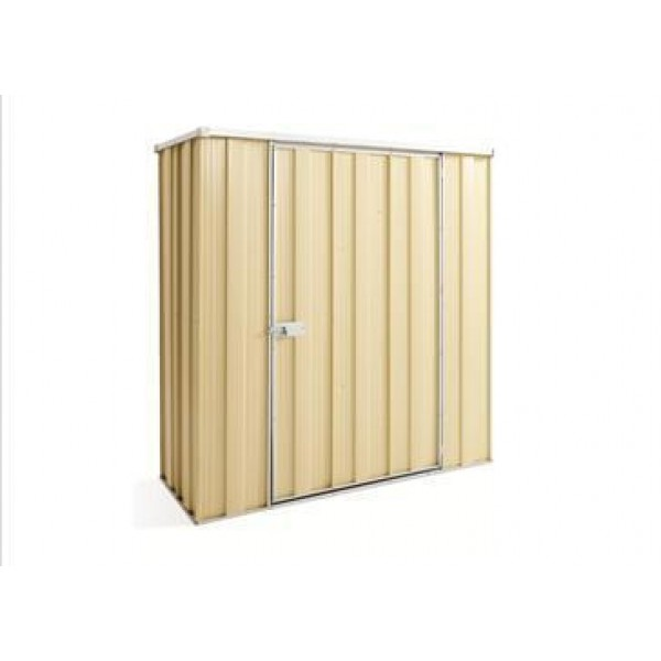 Spanbilt Yardsaver Slimline F52-S Colour 1.76m x 0.72m x 1.80m Flat Roof Garden Shed Small Garden Sheds