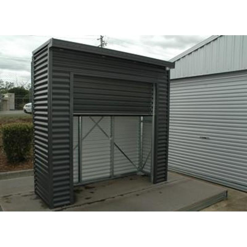 Spanbilt smartlocker lockaway 800 zinc x x 2 for Garden shed with roller door
