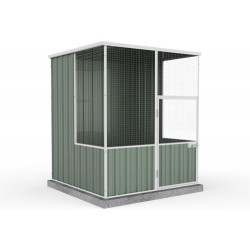 Absco Flat Roof Aviary Flat Roof 1.52m x 1.48m x 1.80m A15151FK