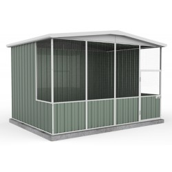 Absco A30231GK 3.00m x 2.22m x 2.06m Gable Roof Aviary Gable Roof