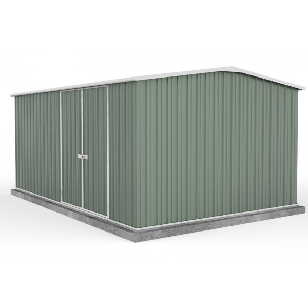 Absco 45302WK 4.48m x 3.00m x 2.06m Gable Workshop Shed Extra Large Garden Sheds Colorbond