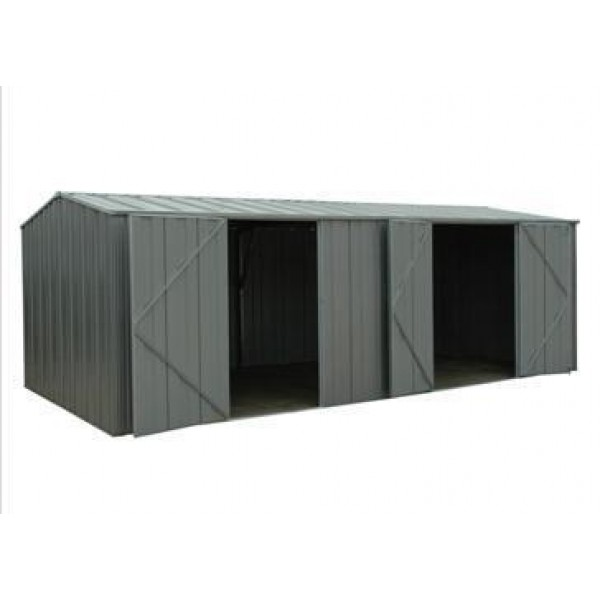 Spanbilt Yardpro G2010 Workshop Colour 5.915m x 2.80m x 2.085m Gable Roof Workshop Shed Extra Large Garden Sheds