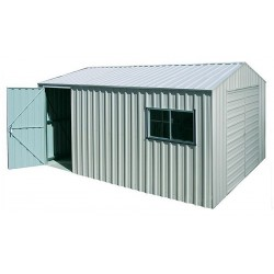Spanbilt Nova Workshop Double Door 360C Zinc 3.60m x 5.40m x 2.58m Gable Roof Workshop Shed Large Garden Sheds
